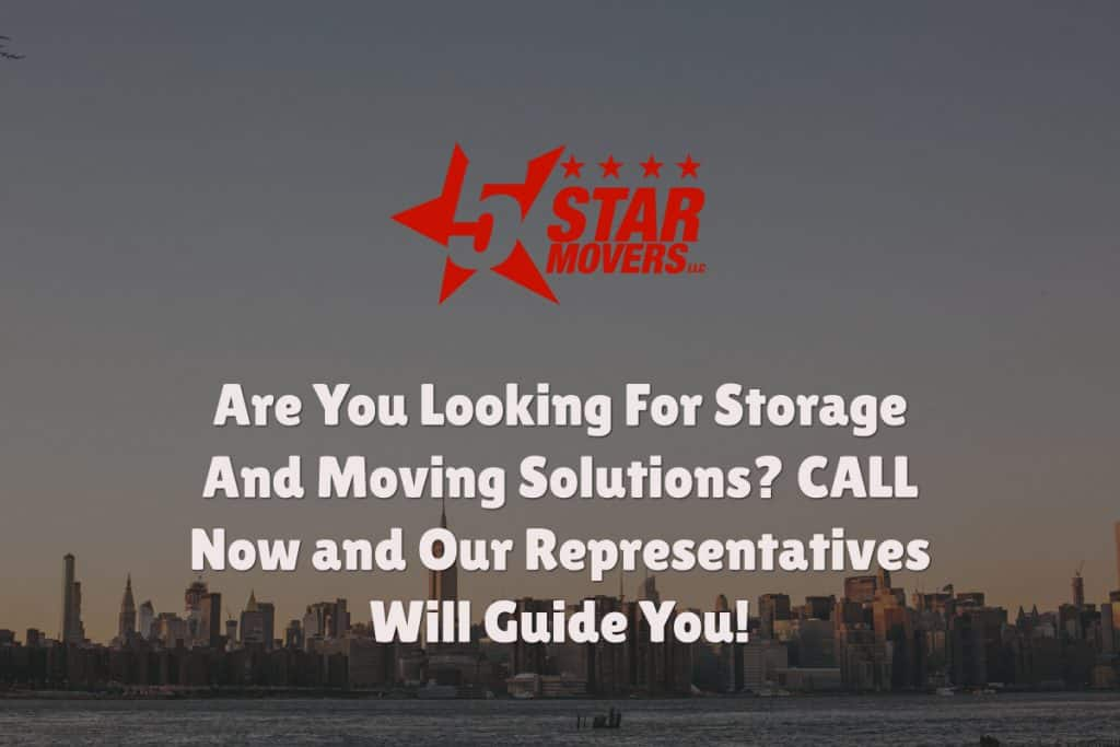 Storage and moving solutions in NYC