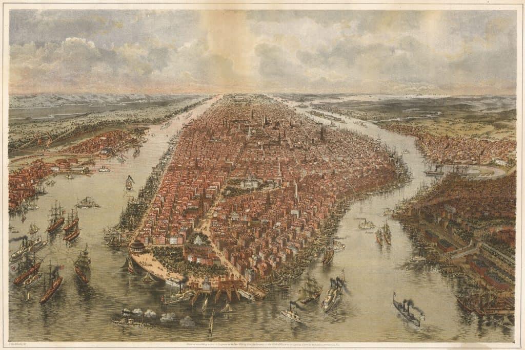 Manhattan in the 1600's